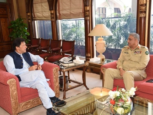 PM Imran Khan and COAS General Qamar Javed Bajwa. PHOTO: EXPRESS