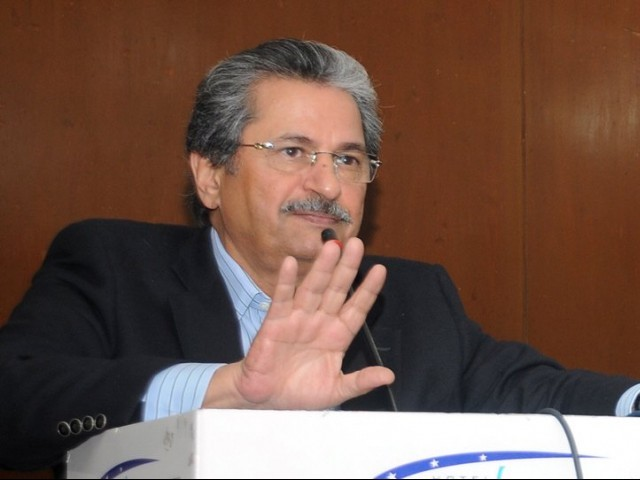 Shafqat Mahmood. PHOTO: EXPRESS/ FILE