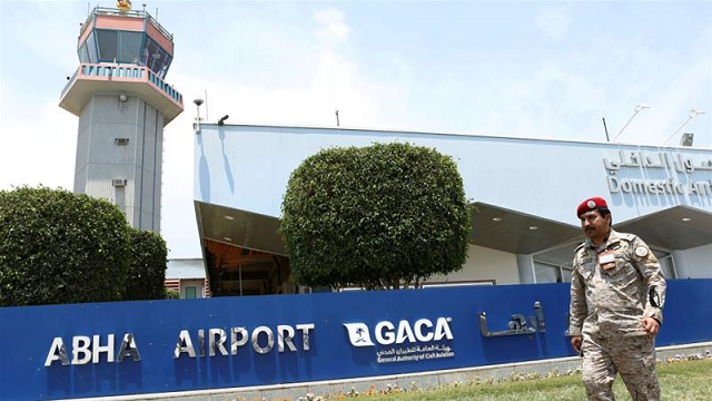 Saudi Arabia's Abha airport has been repeatedly targeted by Yemen's Houthi rebel group. PHOTO: REUTERS
