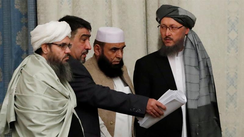 File photo of US-Taliban talks in Qatar. PHOTO: REUTERS