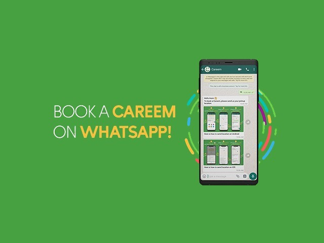 With millions of people using WhatsApp messenger daily in Pakistan, Careem has played this to their advantage and is now allowing users to book a car through WhatsApp. PHOTO: CAREEM