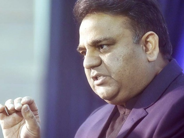 Federal Minister for Science and Technology Fawad Chaudhry.  PHOTO: APP