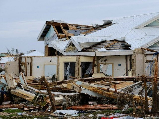 Aftermath of Hurricane Dorian. PHOTO: Reuters