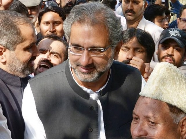 PML-N Leader Shahid Khaqan Abbasi. PHOTO: FILE