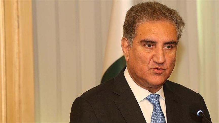 Foreign Minister Shah Mehmood Qureshi. PHOTO COURTESY: Anadolu Agency Video News