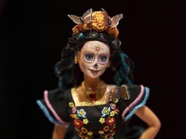 The Day of the Dead Barbie doll is based on the famous character imaged by cartoonist Jose Guadalupe Posada. PHOTO: AFP