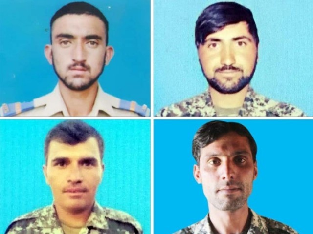 Martyred soldiers. PHOTO: ISPR