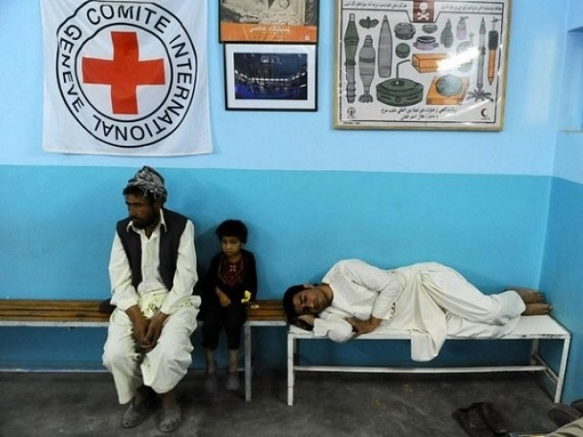 The International Committee of the Red Cross has been providing medical support in Afghanistan for more than 30 years. PHOTO: AFP