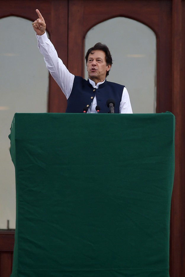 A file photo of PM Imran Khan. PHOTO: AFP