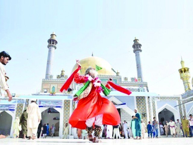Lal Shahbaz Qalandar's shrine in Sehwan attracts not only Hindus and Muslims from across Pakistan but also draws numerous followers from countries like Iran and Iraq. PHOTO: FILE