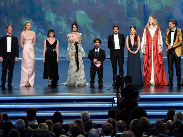 Mandatory Credit: Photo by Phil McCarten/Invision/Shutterstock (10421184fq) Alfie Allen, Sophie Turner, Maisie Williams, Lena Headey, Peter Dinklage, Kit Harington, Emilia Clarke, Gwendoline Christie, Nikolaj Coster-Waldau, Carice van Houten. Alfie Allen, from left, Sophie Turner, Maisie Williams, Lena Headey, Peter Dinklage, Kit Harington, Emilia Clarke, Gwendoline Christie, Nikolaj Coster-Waldau and Carice van Houten appear onstage at the 71st Primetime Emmy Awards, at the Microsoft Theater in Los Angeles 71st Primetime Emmy Awards - Show, Los Angeles, USA - 22 Sep 2019