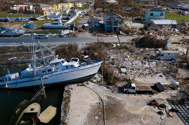 A view of damages left by Hurricane Dorian September 5, 2019, in Marsh Harbor, Great Abaco. PHOTO: AFP