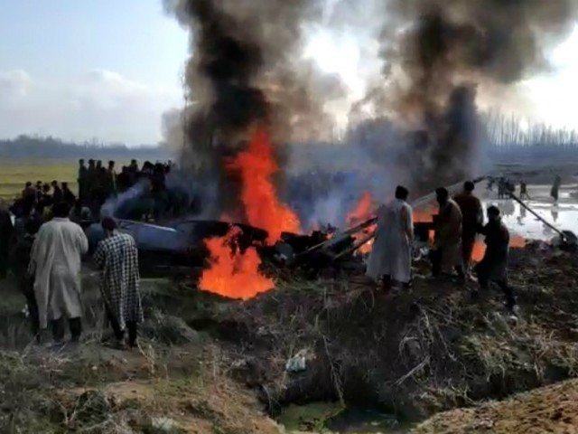 A file photo of the Mi-17 chopper that was crashed in an open field near Garend Kalaan village in Budgam (SCREENGRAB)
