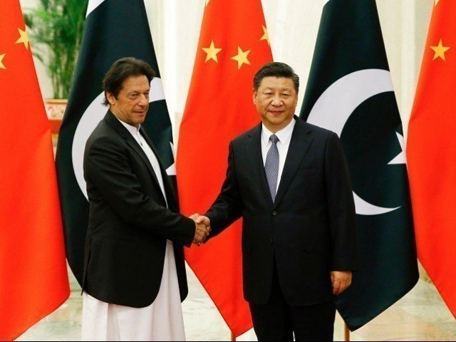 A file photo of PM Imran Khan with Chinese President Xi Jinping. PHOTO: FILE