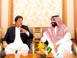 Prime Minister Imran Khan with Saudi Crown Prince Mohammed bin Salman. PHOTO: FILE
