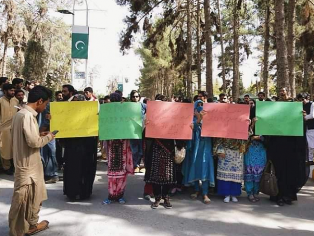 Balochistan University students continue protest against campus harassment