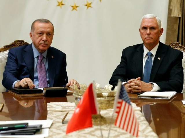 Pence announces ceasefire deal with Erdogan to end Turkey's Syria offensive