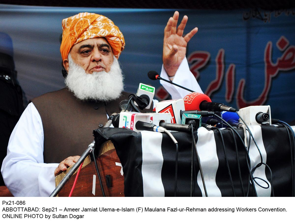 Maulana Fazlur Rehman. PHOTO: ONLINE