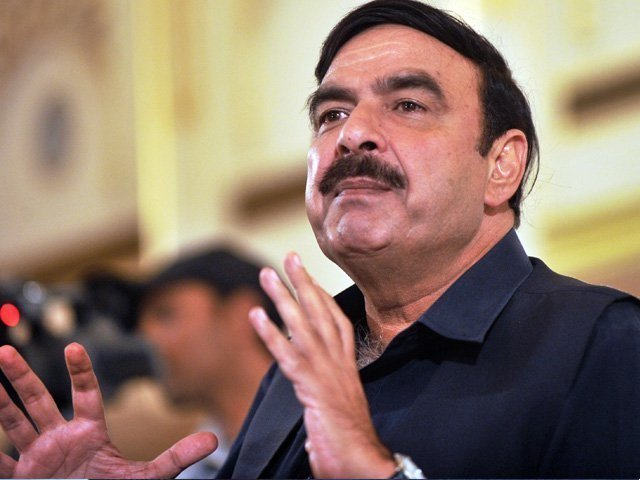 railways minister sheikh rasheed photo file