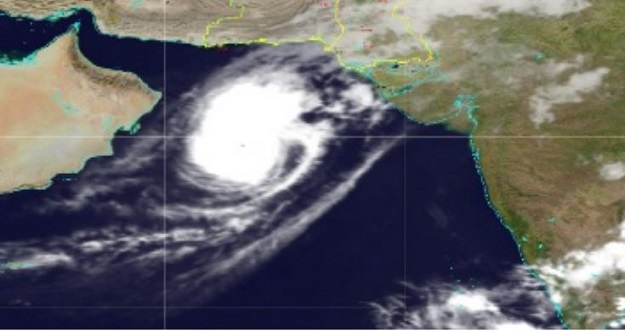 Latest position of cyclone Kyaar. PHOTO: Tropical Cyclone Warning Centre, Karachi.
