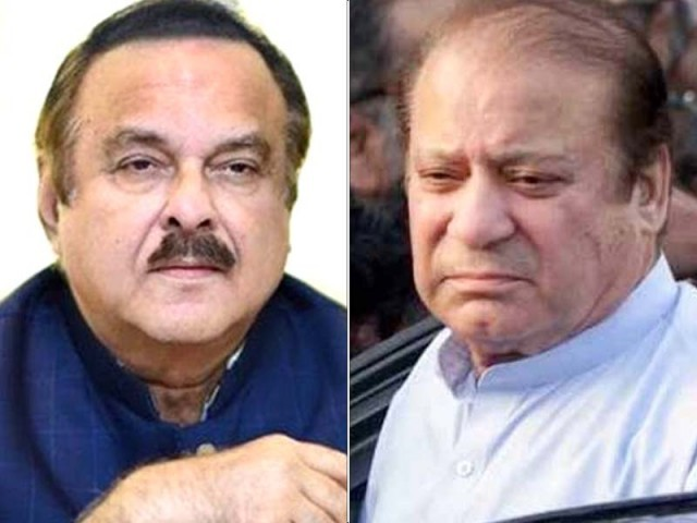 Naeemul Haq (left) and Nawaz Sharif. PHOTO: FILE