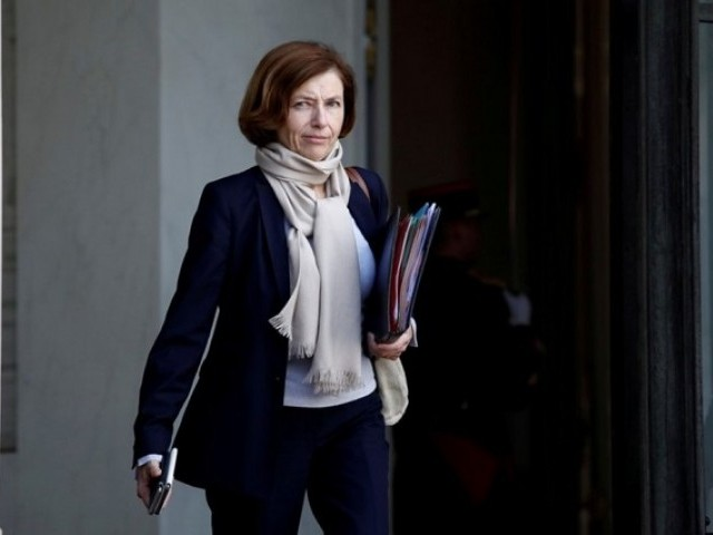 French Defence Minister Florence Parly leaves the Elysee Palace following a cabinet meeting in Paris, France. PHOTO: REUTERS/FILE