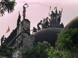 Babri Masjid being demolished. PHOTO: FILE
