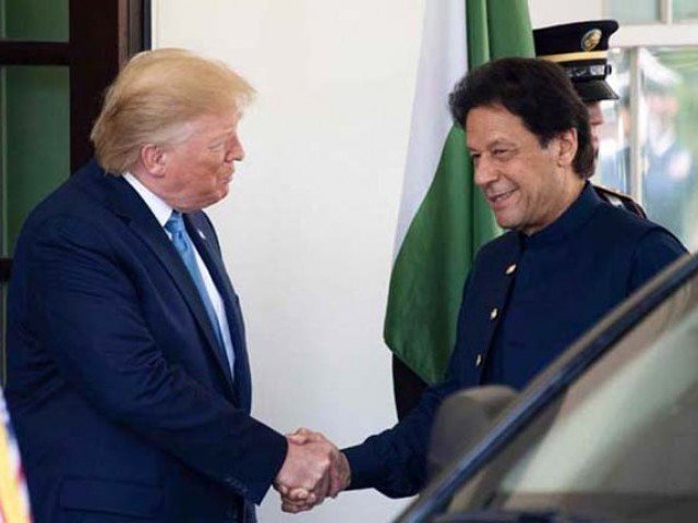 A file photo of US President Donald Trump and Prime Minister Imran Khan. PHOTO: AFP