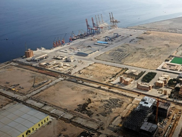 A general view of Gwadar port in Gwadar, Balochistan. PHOTO: REUTERS