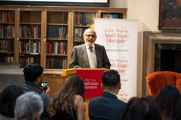 Harish Trivedi, Jury Chair of the DSC Prize 2019, at the Shortlist Announcement event in London. PHOTO: EXPRESS