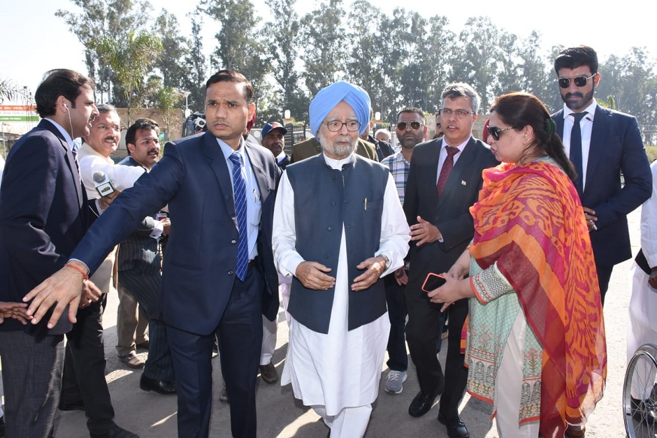 Former Indian premier Manmohan Singh arrives for Kartarpur ceremony. Photo: EXPRESS