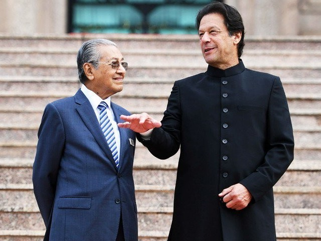Malaysian PM Dr Mahathir Bin Mohamad with PM Imran Khan. PHOTO: FILE