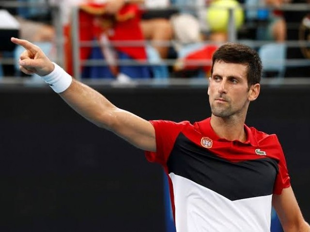 The world number two was in fine touch at the ATP Cup, leading Serbia to victory over 23 other nations. PHOTO: AFP