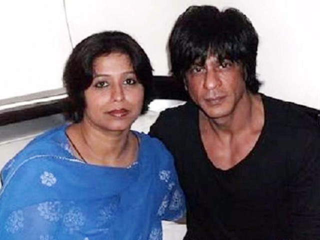 Shahrukh Khan and her Pakistani cousin Noor Jehan. PHOTO: EXPRESS/FILE