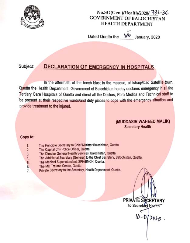 Notification hospital