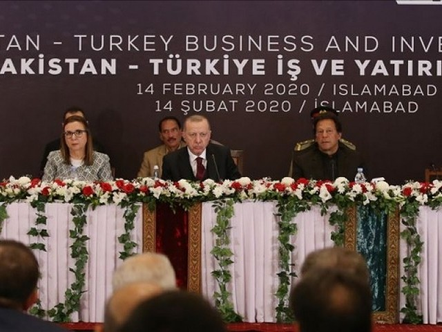 Pakistan-Turkey Business and Investment Forum .PHOTO: Anadolu Agency