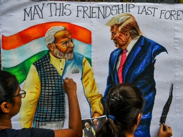 A major US-India trade pact is unlikely during President Donald Trump's visit to the South Asian nation. PHOTO: AFP