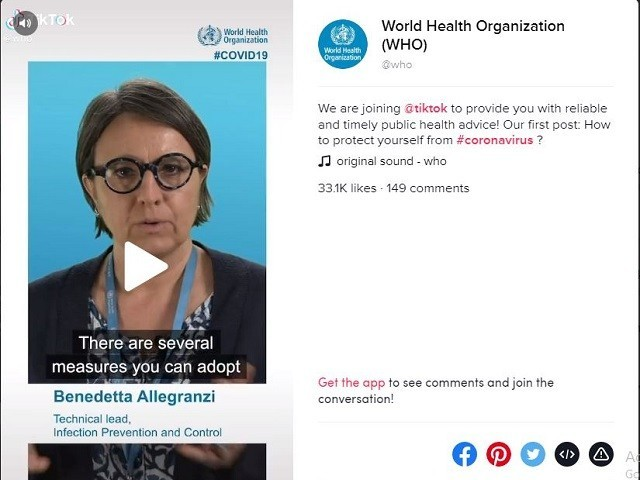 World Health Organization joins TikTok to fight misinformation around Coronavirus