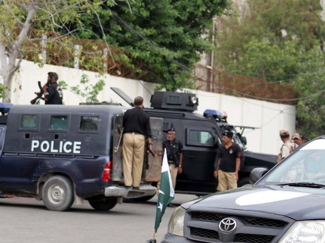Separately, Anti-Violent Crime Cell of the Karachi police claimed to have arrested a kidnapper during a raid in Raees Goth. PHOTO: PPI