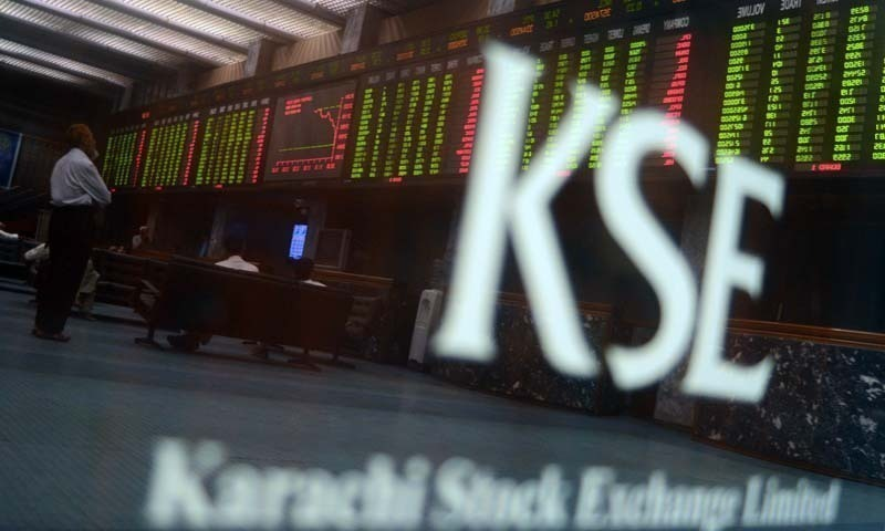 Benchmark KSE-100 index edges up 38.4 points to end at 27,267.20. PHOTO: AFP