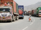 Trucks drivers demand PM Imran, army chief to intervene and let them cross the border. PHOTO: REUTERS/FILE