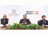 Ministers brief media in Islamabad. SCRENGRAB