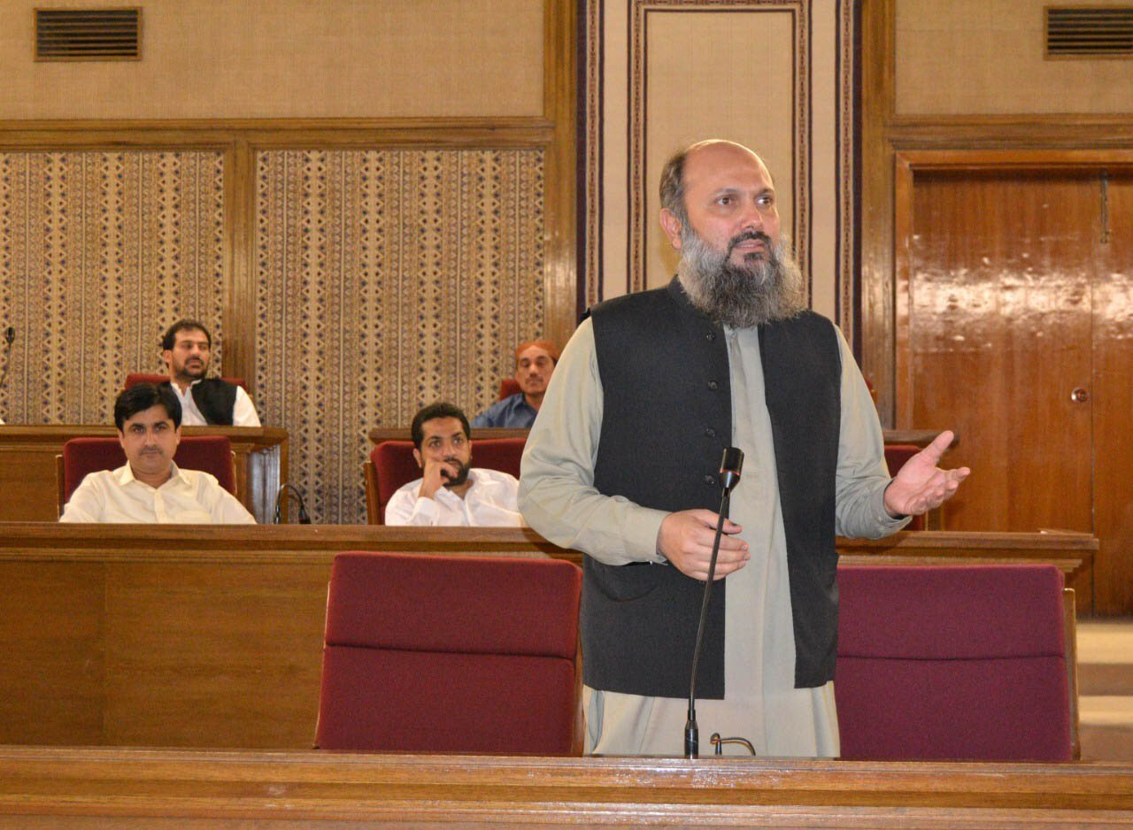 A file photo of Jam Kamal Khan.