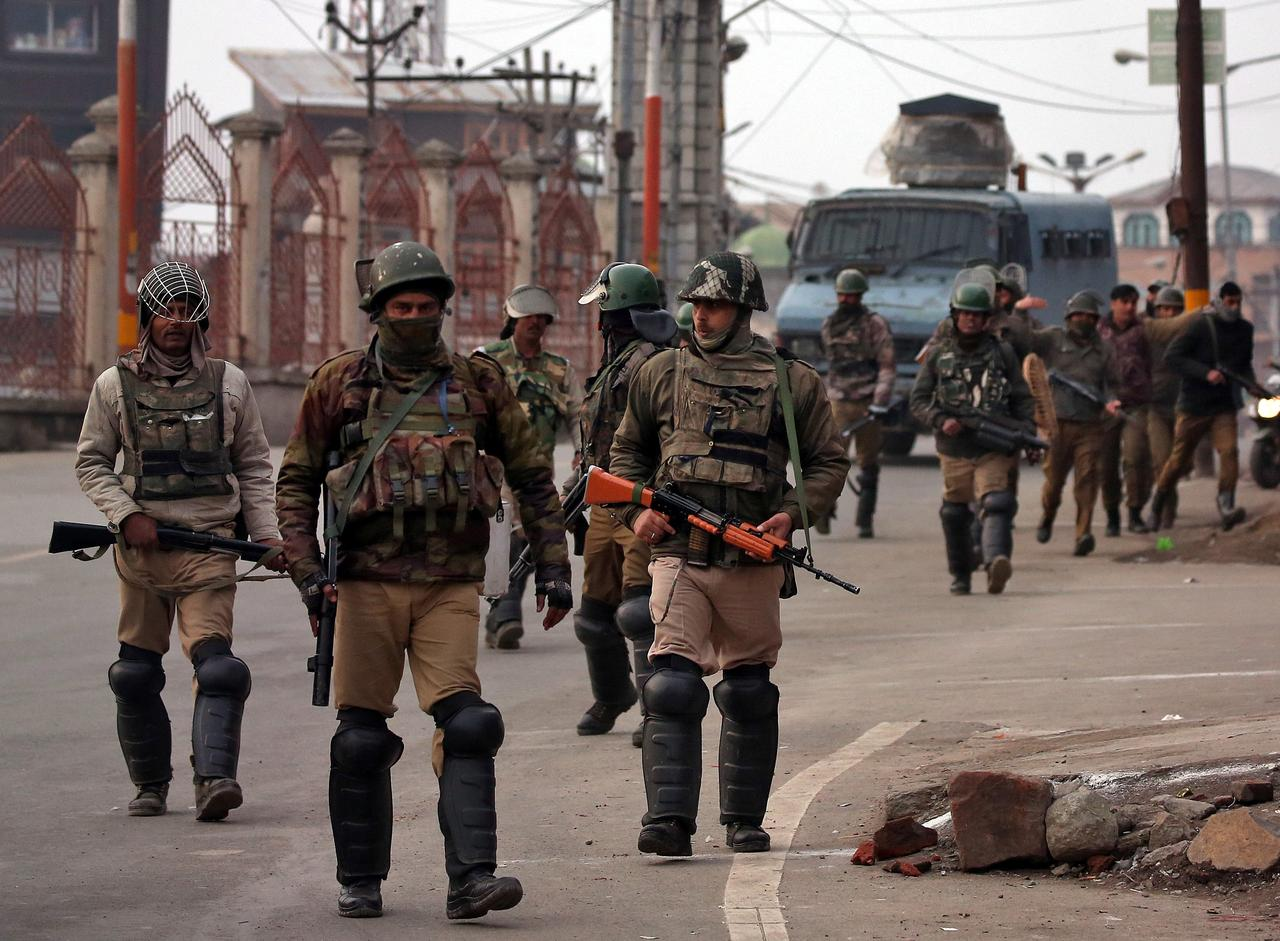 Clashes left three soldiers dead and critically injured several more, says Indian army spokesman. PHOTO: REUTERS/FILE