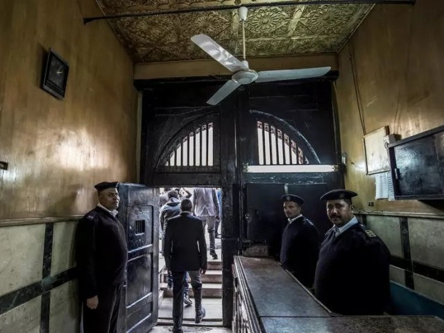 Egyptian authorities have rejected pleas to free up overcrowded jails. PHOTO: AFP