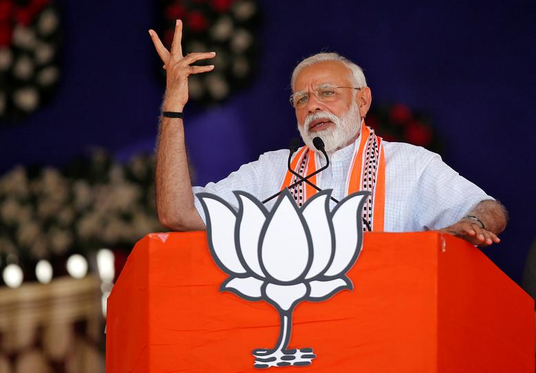 A Reuters image of Narendra Modi.