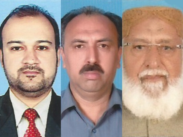 Three more members of the Sindh Assembly – Muttahida Qaumi Movement-Pakistan's Ali Khurshidi (L), Pakistan Tehreek-e-Insaf's Shah Nawaz Jadoon (C) and Pakistan Peoples Party's (PPP's) Noor Ahmed Bhurgri (R)– tested positive for the coronavirus