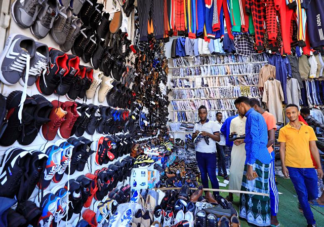 Muslims shop for clothes and shoes ahead of Eidul Fitr at the market in Hamarweyne district of Mogadishu, Somalia. PHOTO: Reuters