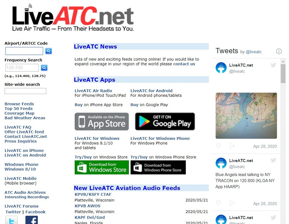 SCREENGRAB: LIVEATC.NET